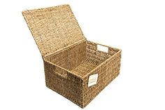 BRAND NEW SEAGRASS STORAGE BASKET BOX WITH LID XLARGE(new design) £10.45 EliteHousewares http://www.amazon.co.uk/dp/B000WJUTBO/ref=cm_sw_r_pi_dp_NV-jvb09Y1QG9