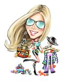 I know there had to be some real life fashion to inspire this caricature of Heidi Klum