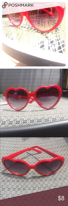 Heart Sunglasses Oversized heart shaped red sunglasses. Have fun, make a statement and stand out! Accessories Glasses