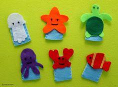 Swanocean: Ocean themed finger puppets-Δαχτυλοφιγούρες με θέμα τον ωκεανό