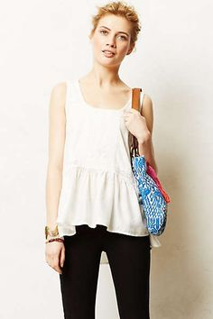Anthropologie - Lace Peplum Tank-- summer!? Where are youuu!?