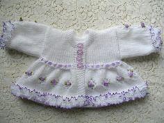 Knitting Pattern No.08 Premature Girl's Matinee Set