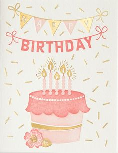 Sparkling Cake Birthday Card. Find at DesignDesign.us