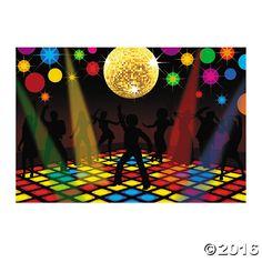 Disco Party Backdrop - OrientalTrading.com