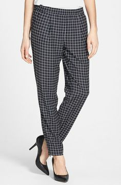 you will not believe the price on these windowpane zip ankle draped pleated pants that also come in black and two other amazing prints {40% now during Nordstrom's Half Yearly Sale!!}