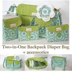 Cute diaper bag and accessories
