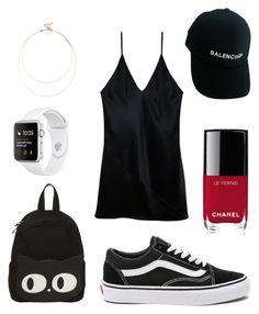 Party like a rockstar by fru316 on Polyvore featuring polyvore, fashion, style, Fleur du Mal, Vans, Sole Society, Balenciaga, Chanel and clothing