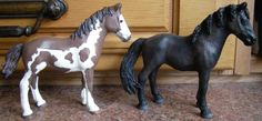Schleich pinto yearling customized and repainted, commission