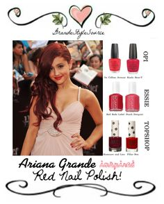 Ariana Grande inspired Red Nail Varnish!    » Find everything here! «