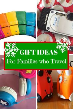 Gift ideas for the best gifts to buy for families who love to travel. Family travel products and experiences perfect for traveling families.