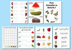 Educational Freebie: The Very Hungry Caterpillar Preschool Pack   ADD TO MY FAVORITES  by CRYSTAL on JANUARY 20, 2012        Download a free preschool pack with activities based on the book, The Very Hungry Caterpillar.