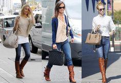 Botas marrones con jeans