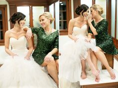 Adorable moments with your Maid of Honor. Sugar Branch Events. CHARD photographer
