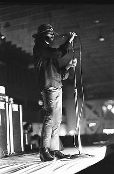 "Jim Morrison from ""The Doors"" during his performance at the Dinner Key Auditorium in September of 1970. A concert that some will never forget, he was arrested for exposing himself during the concert, which he had to spend the night in Dade County Jail @ Civic Center. He was an incredible man with a one of a kind talent, that wanted to promote Love, Peace and No War through his music. Sadly he left us in 1971 at the young age of 27, RIP and forever in our heats!"
