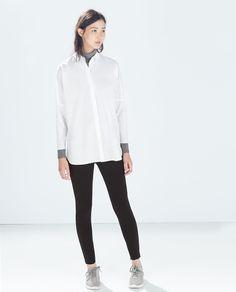 Image 1 of HIGH-WAIST LEGGINGS from Zara