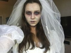 How To Style White Sheet Into A Corpse Bride Costume - YouTube