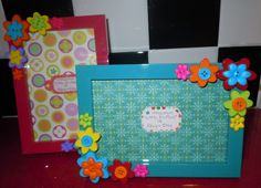 button decorations on picture frames | 4x6 floral button photo picture frame one of a kind by littleesmom, $ ...