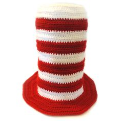 **This listing is for a CROCHET PATTERN and not the finished item** This novelty, striped, stove top hat can be crocheted in 5 different sizes: baby, toddler, child, adult, and large adult size. Crochet this big, fun hat to wear to a party. Or crochet this hat in your school colors or sports team colors to show your spirit. This tall top hat would also be great as apart of a Halloween costume, such as Dr. Seuss or Uncle Sam. The hat is crocheted in one piece from the top down. It can be…