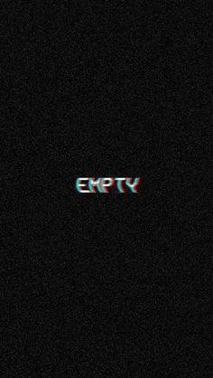 I'm fucking tired to feel fucking empty