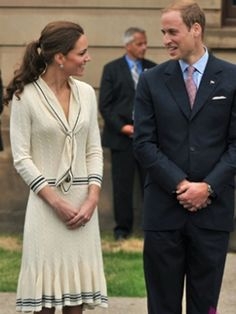 Kate Middleton in Alexander McQueen    Ahoy there! It's nautical chic all the way with Kate's 20s-inspired Alexander McQueen sailor dress.