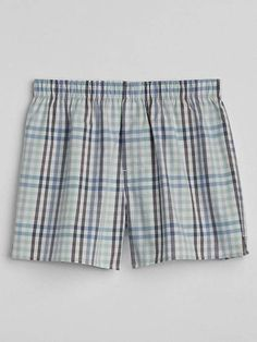 4b1070de44d85 Gap 4.5 Madras Plaid Boxers Navy And Green, Patterned Shorts, Boxers,  Gingham,
