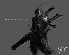 Dark Reborn Happy New Year, Benedick Bana on ArtStation at https://www.artstation.com/artwork/NakDD