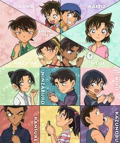 Red strings of fate Dc Anime, Anime Chibi, Kawaii Anime, Ran And Shinichi, Kudo Shinichi, Conan Movie, Detektif Conan, Manga Detective Conan, Konan
