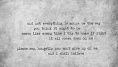 i shall believe.. sheryl crow