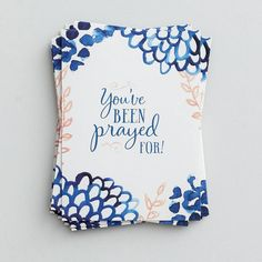 Encourage family and friends with a heartfelt, handwritten note inside these lovely premium note cards—powerful Scripture printed inside! Cover: You've been prayed for! Christian Cards, Christian Gifts, Christian Clothing, Christian Quotes, Scripture Cards, Prayer Cards, Prayer Box, Volunteer Gifts, Appreciation Gifts