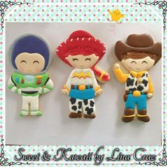 Sweet & Kawaii by Lina Cruz Toy Story Birthday Cake, 3rd Birthday, Toy Story Cupcakes, Toy Story Cookies, Jessie Toy Story, Toy Story Food, Toy Story Party, Cookies For Kids, Little Girls