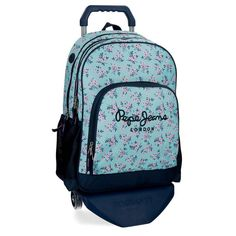 Pepe Jeans Denise Mochila Escolar, 45 cm, 21.6 litros, Azul: Amazon.es: Ropa y accesorios My Bags, Fashion Backpack, Under Armour, Backpacks, Bts, Amazon, Pockets, Zippers, Travel Cosmetic Bags