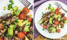 Avocado-Steak-Pfanne