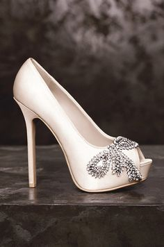 Wedding Shoes: White by Vera Wang, Spring 2013. To see more wedding ideas: www.modwedding.com