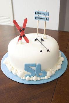 Ski Lover's Cake - This was a birthday cake for my FIL. I loved Patisseriejaja's Ski Mountain cake, so I attempted to make a similar one. I was running out of time though so a lot of the little details got left out. Hopefully some day I'll be able to make one as good as Patisseriejaja!