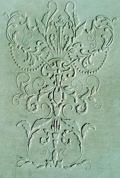 Our Raised Plaster Stencil Romantique is fabulous for furniture application and repeated wallpaper designs. http://www.victorialarsen.com/Plaster%20Stencils/Plaster_Stencil_Romantique.htm