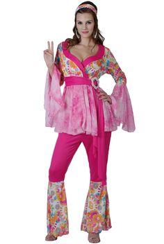 Hippiekostuum voor dames : Vegaoo Volwassenen Kostuums
