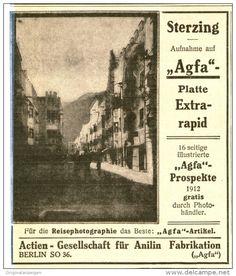 Original-Werbung/Inserat/ Anzeige 1912 - AGFA PHOTOGRAPHIE - ca. 90 x 110 mm