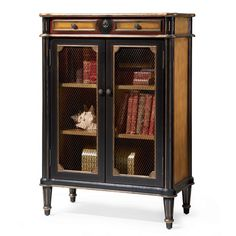 """42"""" H Accent Bookcase with Two Doors"""