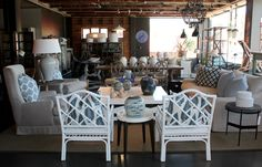 Showroom in blue and white