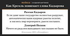«Ничего изряда вон выходящего». Кремль реагирует наугрозы Рамзана Кадырова весь мир «раком поставить» — Meduza