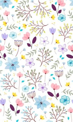 Beautiful floral pattern, perfect for girly wrapping paper or even a girl's bedroom wallpaper! Ipad Wallpaper Quotes, Cute Wallpaper Backgrounds, Pretty Wallpapers, Flower Backgrounds, Flower Wallpaper, Screen Wallpaper, Mobile Wallpaper, Pattern Wallpaper, Iphone Wallpaper