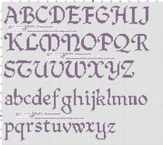 ~ This unique photo is truly an impressive style philosophy. Cross Stitch Alphabet Patterns, Alphabet Charts, Cross Stitch Letters, Cross Stitch Charts, Stitch Patterns, Cross Stitching, Cross Stitch Embroidery, Wedding Cross Stitch, Lettering