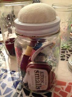 How to Make a Mason Jar Sewing Kit With Pincushion