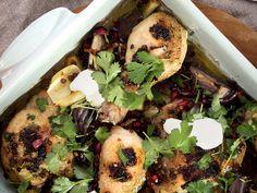 Kyllingform med linser og løk Cilantro