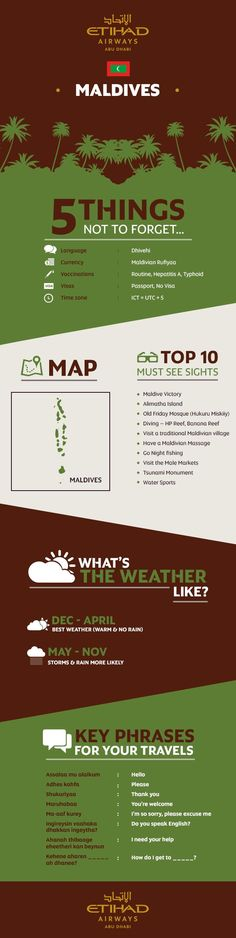 Infographic: Etihads guide to travelling to Maldives #vacationideasonabudget
