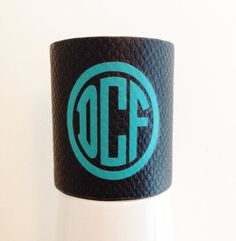 Monogrammed Leather Cuff Bracelet by ArentYouCute on Etsy, $25.00