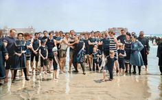 20 Colorized Photos That Show What the World Was Like 100 Years Ago. Photography is by far the best way for us to get to know our ancestors and their way . Old Pictures, Old Photos, Antique Photos, Vintage Photographs, Vintage Photos, Funny Pictures, Colorized Historical Photos, Colorized History, Standing At Attention