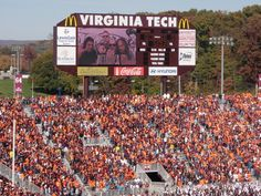Hokie Football in Blacksburg Virginia....you haven't experienced Hokie football until you have been in the stands when Enter Sandman starts to play and the fans start jumping! Click on pic to go to link!