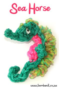 Seahorse Loom Band tutorial http://loomband.co.za/seahorse-loom-band-tutorial/