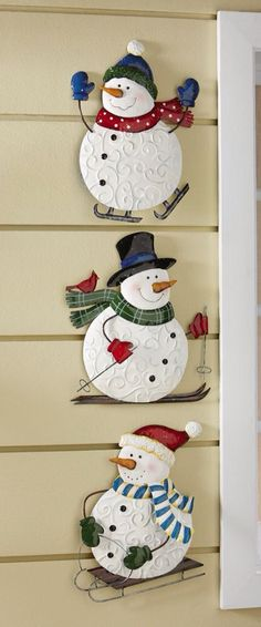 Last Trending Get all images outdoor christmas wall decorations Viral xlarge Christmas Snowman, Winter Christmas, Christmas Holidays, Christmas Decorations, Christmas Ornaments, Wall Decorations, Winter Fun, Snowman Crafts, Christmas Projects